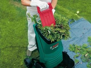 Садовый измельчитель веток и травы